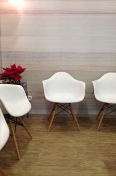 Sala de espera Clínica Conde Dental